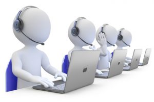 It Staff working in a call center